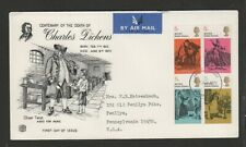 CHARLES DICKENS COPPERFIELD OLIVER PICKWICK MICAWBER SET FDC 1970 ENGLAND STUART