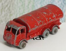 Matchbox Lesney # 11b ERF Petrol Tanker red missing decal