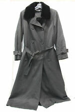 Jones New York Womens Wool Trench Coat Size 12? Excellent Used Condition Black