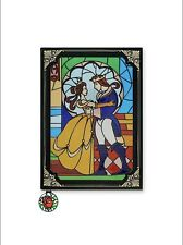 Beauty and the Beast Stained Glass Window Replica Journal Book