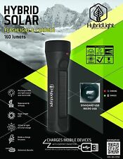 160 LUMENS SOLAR Rechargeable Torch LED Solar Flashlight WATERPROOF  Boating