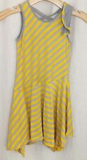 ISOBELLA & CHLOE Girls Size 6 Dress Yellow & Gray Stripes