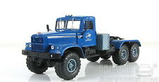 KrAZ-255V1 6x6 truck tractor (blue), scale model cars 1:43