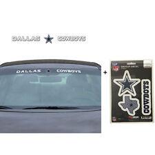 NFL Dallas Cowboys Car Truck Suv Windshield Decal Sticker with Bonus