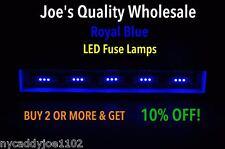 (6) ROYAL BLUE LED FUSE LAMPS-8V-RECEIVER/2270/VINTAGE-SX//9090/DIAL-METER-AUDIO