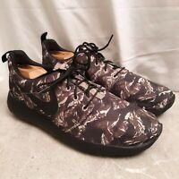 New...Men's Nike Roshe Run Tiger Camo Khaki Size 9 Shoes Sneakers 655206-022