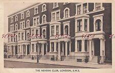 English Postcard. The Nevern Club, Kensington & Chelsea, London SW5. June 1943