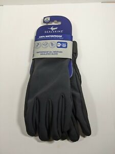 SealSkinz Waterproof All Weather Insulated Gloves Leather Palm Mens Size 9 Med