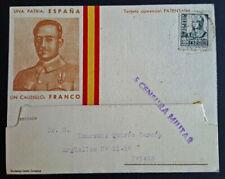 Sobres y tarjetas de España hasta 1949 sobre de 1 sello