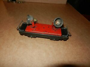 MARX #559 Double Floodlight Car, Red Deck, 4 Wheel, Original