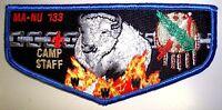 OA MA-NU LODGE 133 LAST FRONTIER COUNCIL OK PATCH BLUE CAMP STAFF SERVICE FLAP