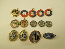 Lot of 14 NASA Space Pins Pendants and Medals Assorted Apollo Soyuz Apollo 11
