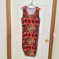 Suzannegrae Women's Sleeveless Multicolored Stretchy Fitted Dress Sz S