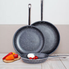High Quality Non Stick Marble Ceramic 3 pcs. Induction Bottom Frying Pan Set