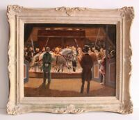 Fantastic Vintage Impressionism Circus Painting Oil Painting, Eugen Osswald