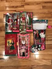 Lot of 7 Christmas Small Box and Stocking Barbies NRFB