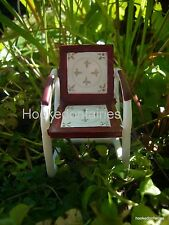 Red Vintage Table and Chair set  Miniature  Fairy Faerie Gnome Hobbit Garden WS