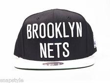 New Mitchell & Ness NBA Snapback Hat - Brooklyn Nets Acrylic 2T XL Black Logo