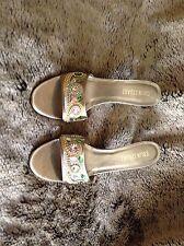 Vs Colin Stuart Silver Jeweled Sandals