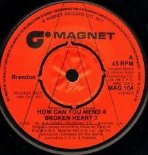 """BRENDON how can you mend a broken heart/tramp man DEMO MAG 104 uk 7"""" WS EX/"""