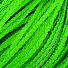 5 Mètres de cordon plat tressé simili cuir pour création de bracelet infinity