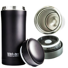 ISOLATION THERMIQUE FLASQUE MUNITIONS NOIR TASSE CHOPE BOISSONS CHAUDES CAMPING