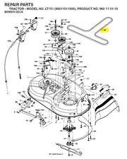 """Husqvarna 38"""" cut pont ceinture pour LT131 LT141 LT1597 LTH141 (certains LT151 LTH151)"""