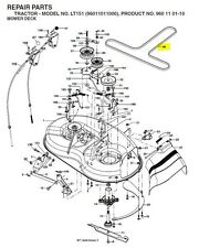 "Partner Cutter Drive Belt Fits 38"" Deck Models  P11597 Mowers 532193214"