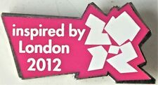 INSPIRED BY LONDON 2012 OLYMPICS BADGE PIN. Metal.
