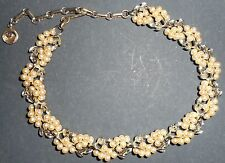 LISNER Vintage 1960s Choker Beads Pearls Necklace Gold