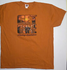 Mens XXL 2XL Cox's Harley-Davidson Rock Hill SC SS Orange H-D Short Sleeve Tee