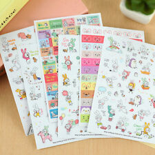 Mini Factory Korea Diary Book Decoration Notebooks Schedule Stickers (All 6 set)