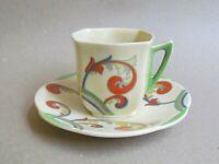 ROYAL DOULTON SYREN D5102 COFFEE CUP & SAUCER - ART DECO (Ref5494)