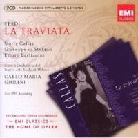 "CALLAS/GIULINI/DI STEFANO ""LA TRAVIATA"" 2 CD + CD-ROM NEU"
