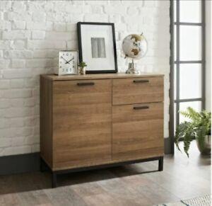 Detriot Large 2 Door 1 Drawer Sideboard Brown Oak Cupboard TV Cabinet, Free P&P!