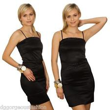 New Dress Party Evening Cocktail Ladies Women Short Sleeveless Sequins Black