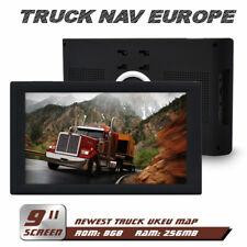 "9 "" Truck Sat Nav Lifetime Newest UK & EU Maps GPS Navigation For HGV Lorry LGV"