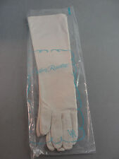 "WOMAN VAN RAALTE GLOVES OYSTER SZ 6.5 NEW NOS CLASSIC EVENING LONG 15"" LENGTH"