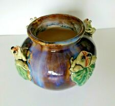 Glazed Frog Z Vase Earthenware Stoneware  Ceramic Pot Spittoon