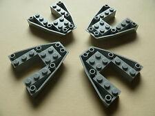Lego  4 proues de bateau gris clair set 5955 7141 / 4 old LG bow boat brick