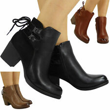 Cuban Heel Casual Ankle Boots for Women