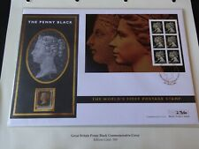 1840 QUEEN VICTORIA 1d PENNY BLACK STAMP WORLD FIRST POSTAGE COVER SCARCE /500