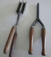 Antique Set of 2 Curling Iron & Crimping Iron