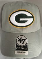 NFL Green Bay Packers 47 Clean Up Adjustable Hat Gray Two Toned Adult Cap