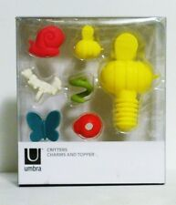 Umbra Critters Bugs Glass Charms and Wine Bottle Topper Funny Gift New In Box