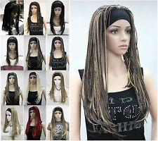 Excellent 12 color Unique Man-made braids 3/4 half wig headband Hivision #13338