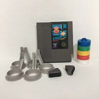Stack-Up Nintendo NES Game with Authentic Blocks, Trays, Hands