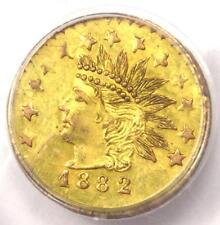 1882 Indian 50C California Gold Half Dollar Coin BG-1077 - PCGS UNC (MS) - R6+