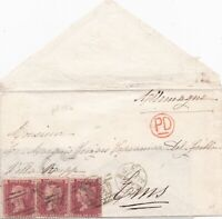 1873 QV GLASGOW COVER WITH THREE FINE 1d PENNY RED STAMPS PLATE 158 TO ALLEMAGNE