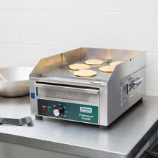 """17"""" Waring Electric Stainless Steel Commercial Countertop Flat Top Griddle 120V"""